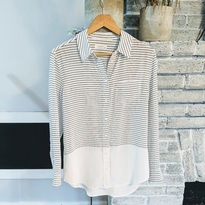 Equipment striped flowy silk tunic